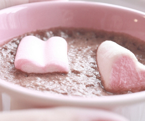 heart, pink, and chocolate image