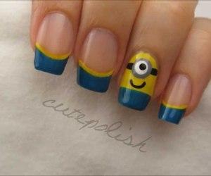 minions, nails, and nail art image