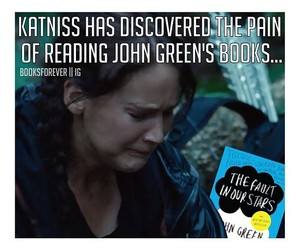 john green, mocckingjay, and the hunger games image