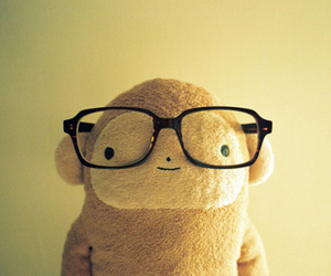 cute, glasses, and monkey image