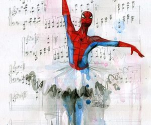 spiderman, ballet, and music image