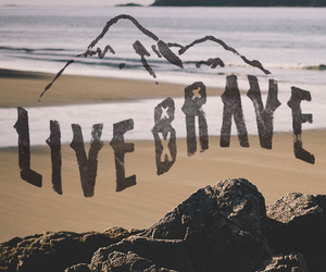 beach, brave, and california image