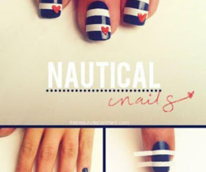 nails, nautical, and blue image