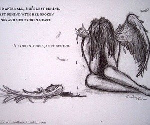angel, broken, and cut image