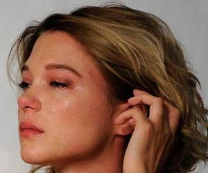 cry, sad, and Lea Seydoux image