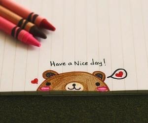 cute, bear, and drawing image