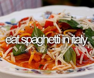 before i die, italy, and food image