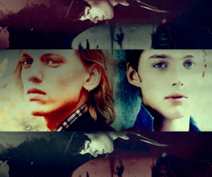 albus dumbledore, harry potter, and gellert grindelwald image
