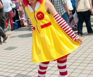 clown, cosplay, and girl image