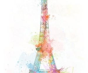 paris, eiffel tower, and art image