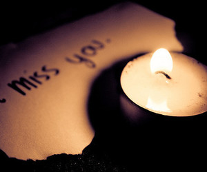 candle and i miss you image