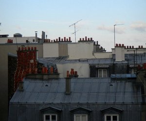 chimney, Houses, and sky image
