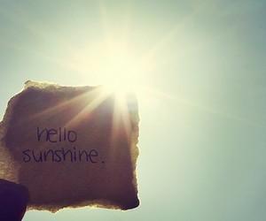 sunshine, hello, and sun image