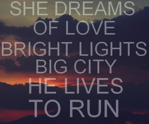 city, light, and love image