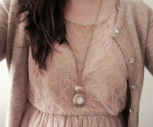 cardigan, jewelry, and lace image