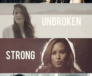 demi lovato, warrior, and strong image