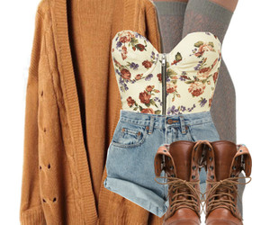 outfit, shorts, and boots image