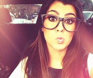 girl, glasses, and instagram image