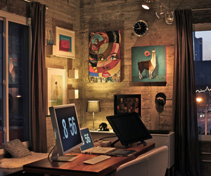 decoration, office, and workspace image
