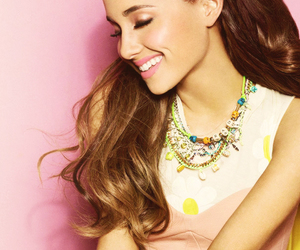 ariana grande and caca brown hair image