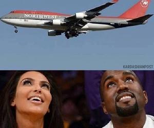 funny, kanye west, and kim kardashian image