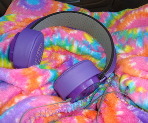 colours, headphones, and photography image