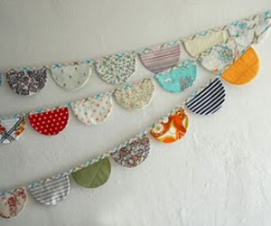 bunting, decoration, and fabric image