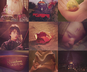 harry potter, hogwarts, and snitch image