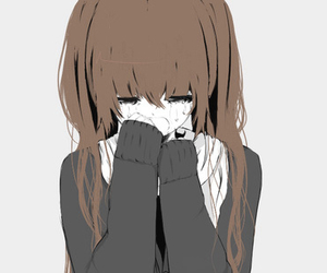 anime, sad, and cry image