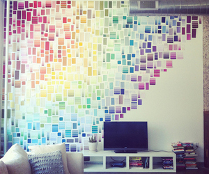 room, rainbow, and wall image