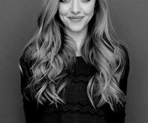 amanda seyfried, black and white, and smile image