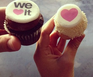 cupcake, heart, and we heart it image