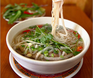 pho, food, and noodles image