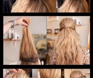 diy, do it yourself, and hair styles image