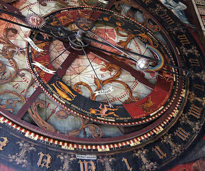vintage and astronomical clock image