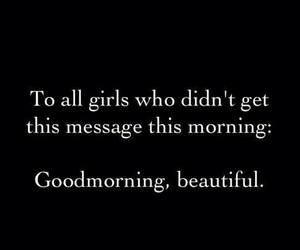 beautiful, girl, and message image