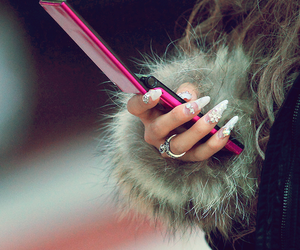 nails, fur, and pink image