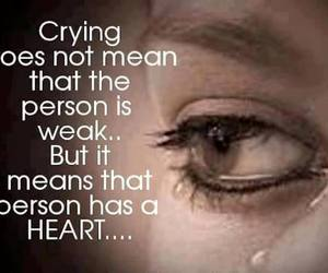 crying, quote, and heart image