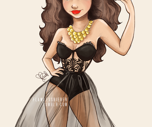 selena gomez, drawing, and draw image