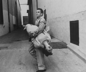 black and white, liz taylor, and montgomery clift image