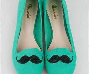 shoes, green, and mustache image