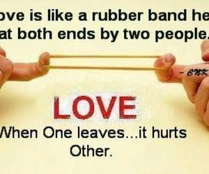 hurts, love, and rubber band image