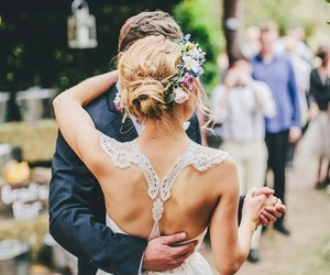 beautiful, bride, and bun image