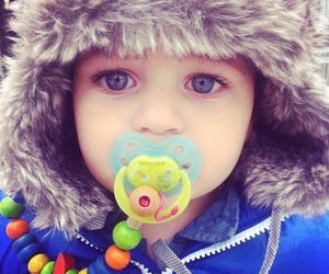 baby, adorable, and blue eyes image