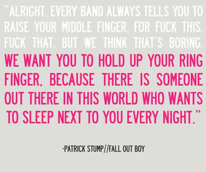 patrick stump, quote, and fall out boy image