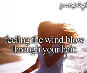 girl, hair, and text image