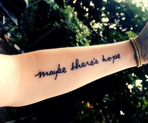 tattoo, hope, and arm image