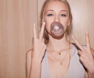 blonde, bubble, and girl image