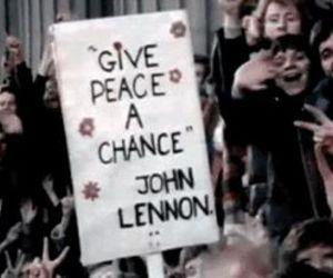 john lennon, peace, and gif image
