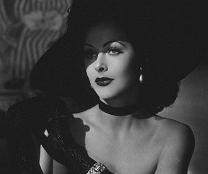 hedy lamarr and black and white image